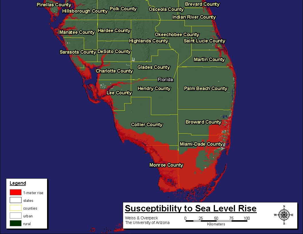Florida Reprimands State Worker For Violating Climatechange Gag - Sea level rise map florida