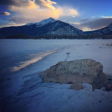 This boulder is a good indicator of the water level in Dillon Reservoir.