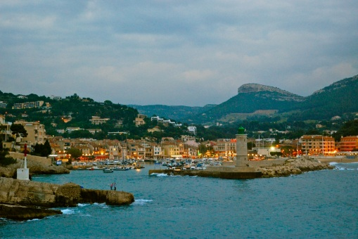 Cassis, France at twilight.