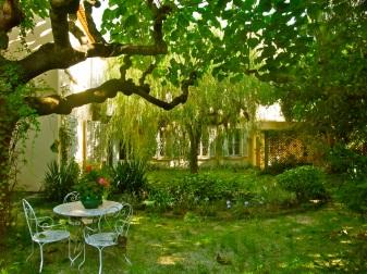 French garden.