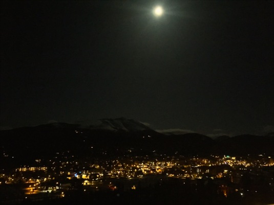 Moon over Breckenridge.