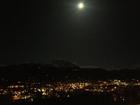 Moon over Breckenridge.