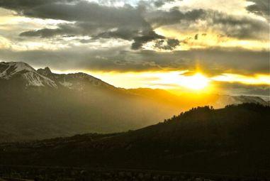 Mid-summer sunset over the Gore Range.