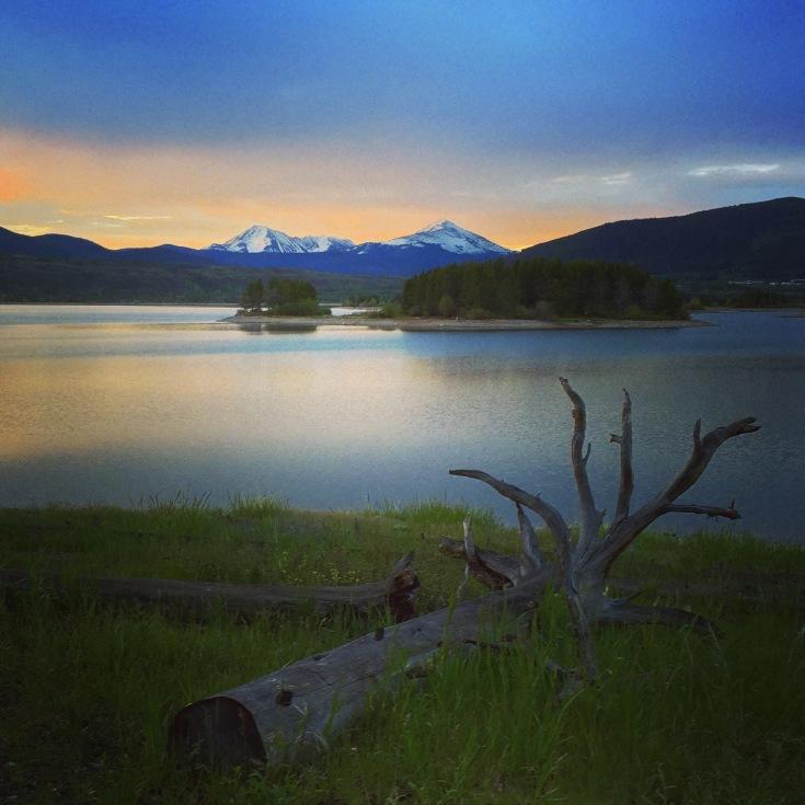Dreamy morning along Dillon Reservoir.