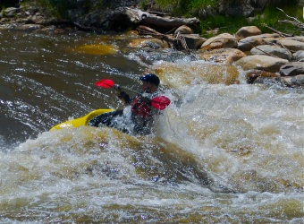 Becoming one with water at the Yampa Riverfest in Steamboat Springs.