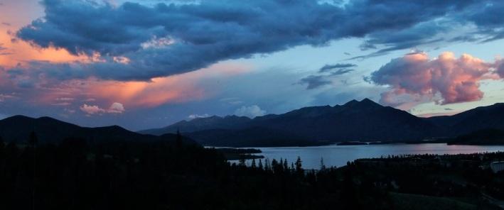 Dillon Reservoir from Tenderfoot Mountain.