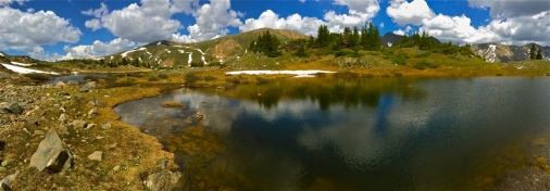 Pass Lake panorama. early summer.