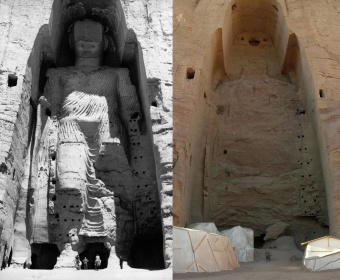One of the Buddhas of Bamiyan in Afghanistan, destroyed by the Taliban in 2011.