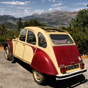Classic set of wheels along the rim road of the Gorge du Verdon.