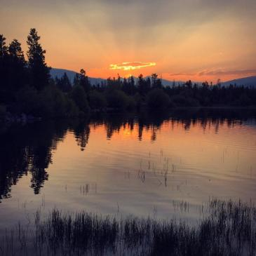 Daybreak at Dillon Reservoir.