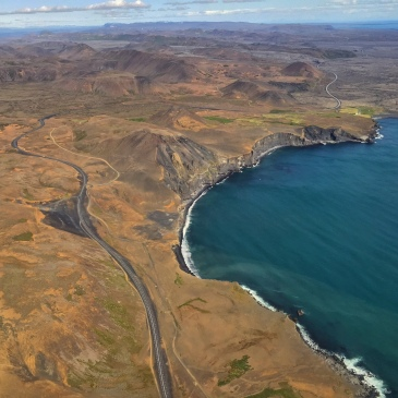 A slice of Iceland's coast near Keflavik.