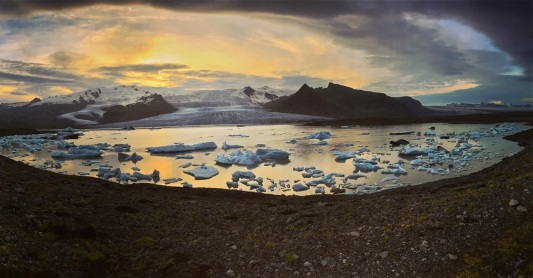 Pano view at Jökulsárlón.