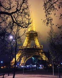 Misty evening.