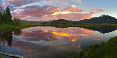 Summer sunset, Dillon Reservoir.