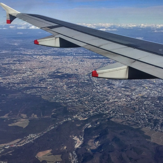 A lovely aerial view of Vienna from the south.