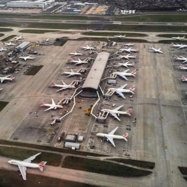 "Heathrow""s Terminal 3 from above."