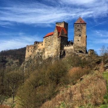 Burg Hardegg, above the Thaya River, which once formed the border between Austria and Czechoslovakia.