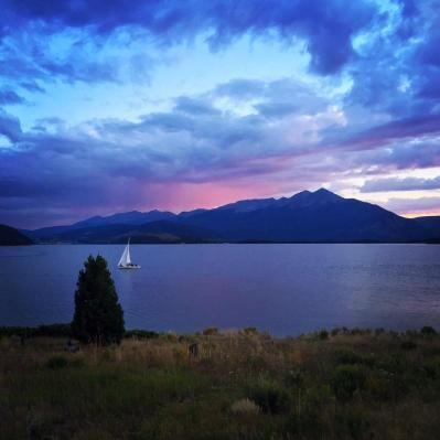 Evening sail near Dillon, Colorado.