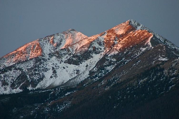 Peak 1 alpenglow