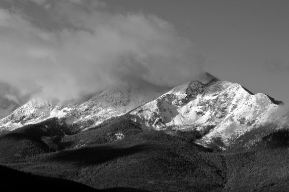 Peak One black and white
