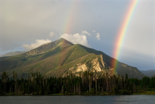 Rainbow over Peak 1