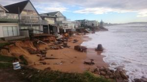 Damaged homes along the foreshore of Sydney's Collaroy Beach, hit by powerful storms in early June. Mitchell Harley/UNSW
