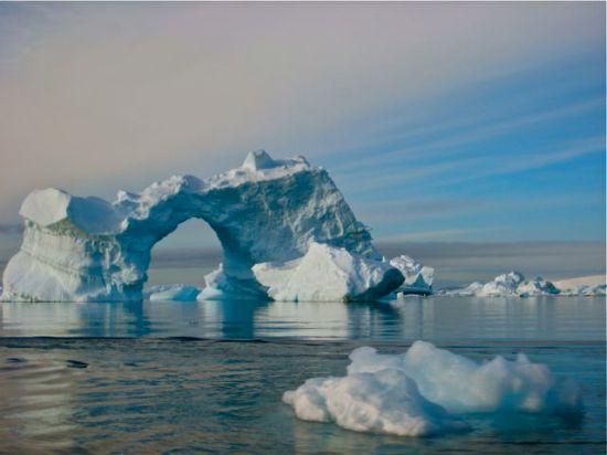 Antarctica ice arch