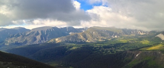 Rocky Mountain National Park snowfields.