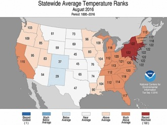 Summer temps well above normal across U.S.