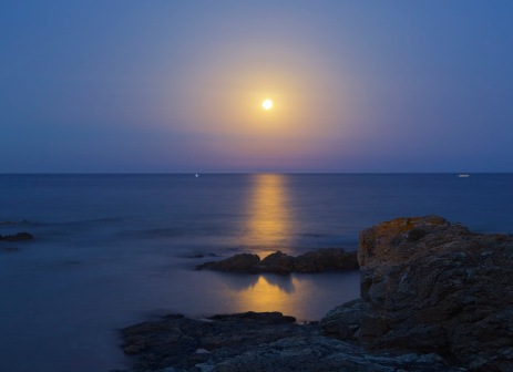 Long exposure moonrise.