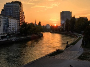 Danube sunset.