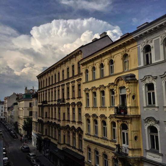 Summer thunderstorm over the Zollergasse.