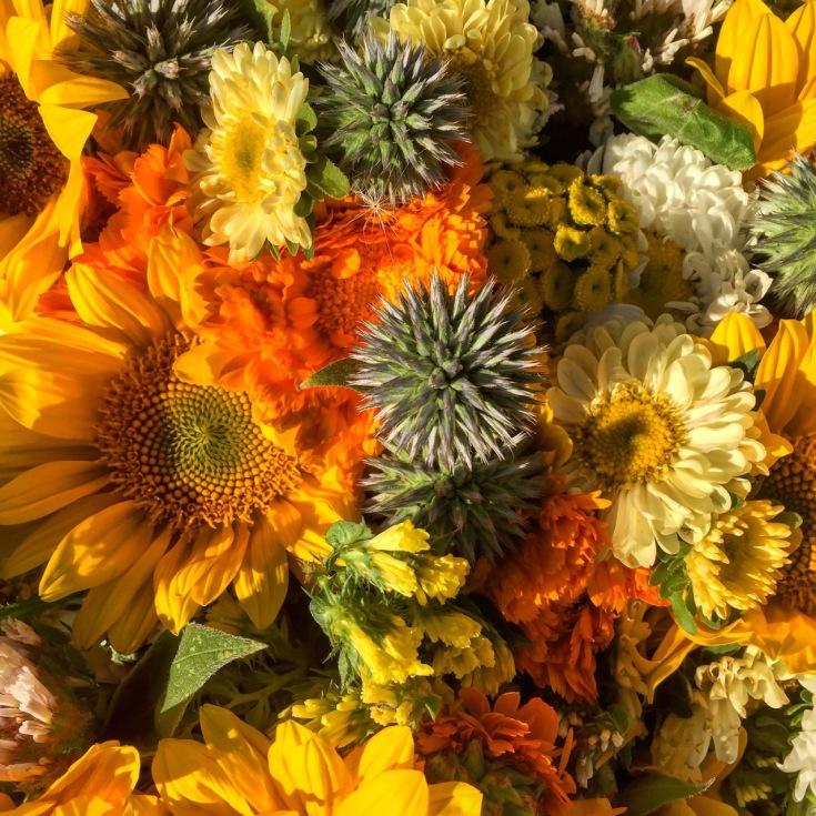 Market flowers.