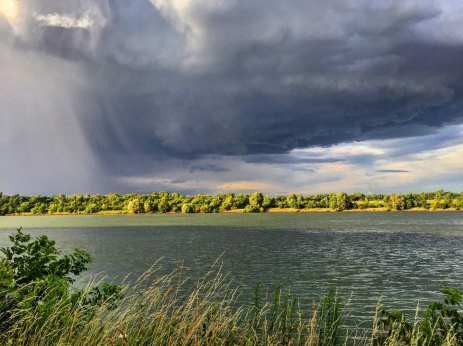 Storm over the Danube.