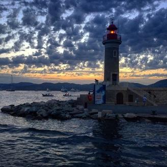 St. Tropez lighthouse harbor.